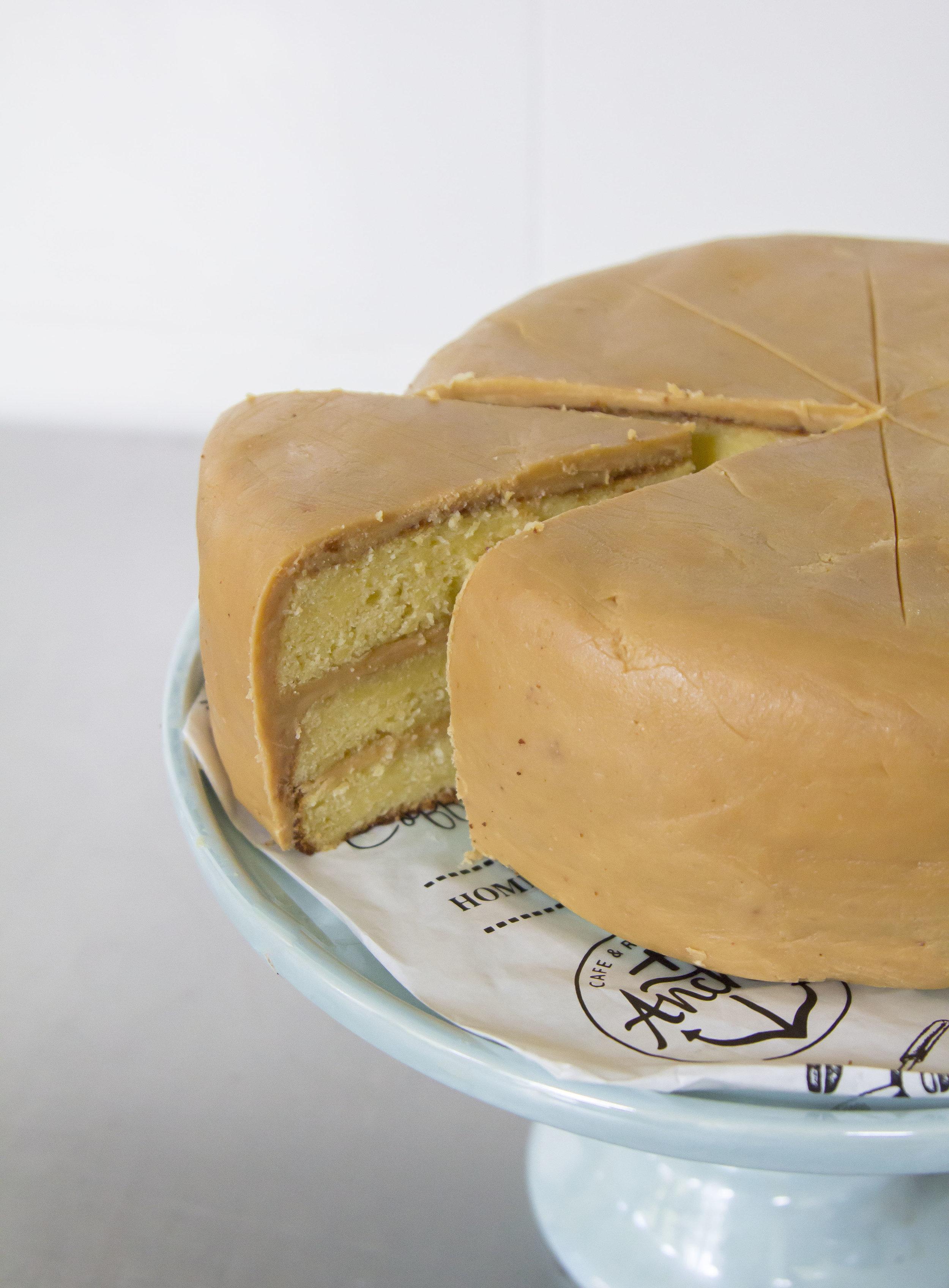 Caramel Cake   | 60 (slice) / 450 (whole cake)