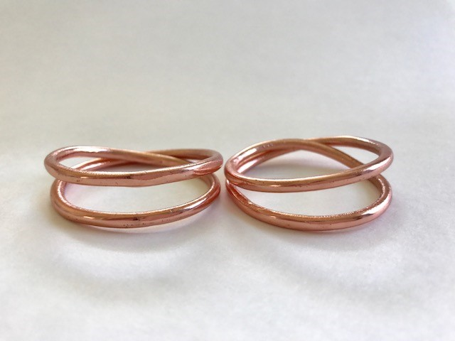 Aria Rose Copper Napkin Ring - $3 each, Qty 20