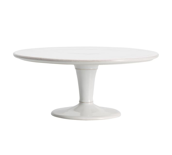 "Modern White Cake Stand, 12.5"", $30, Qty 1"