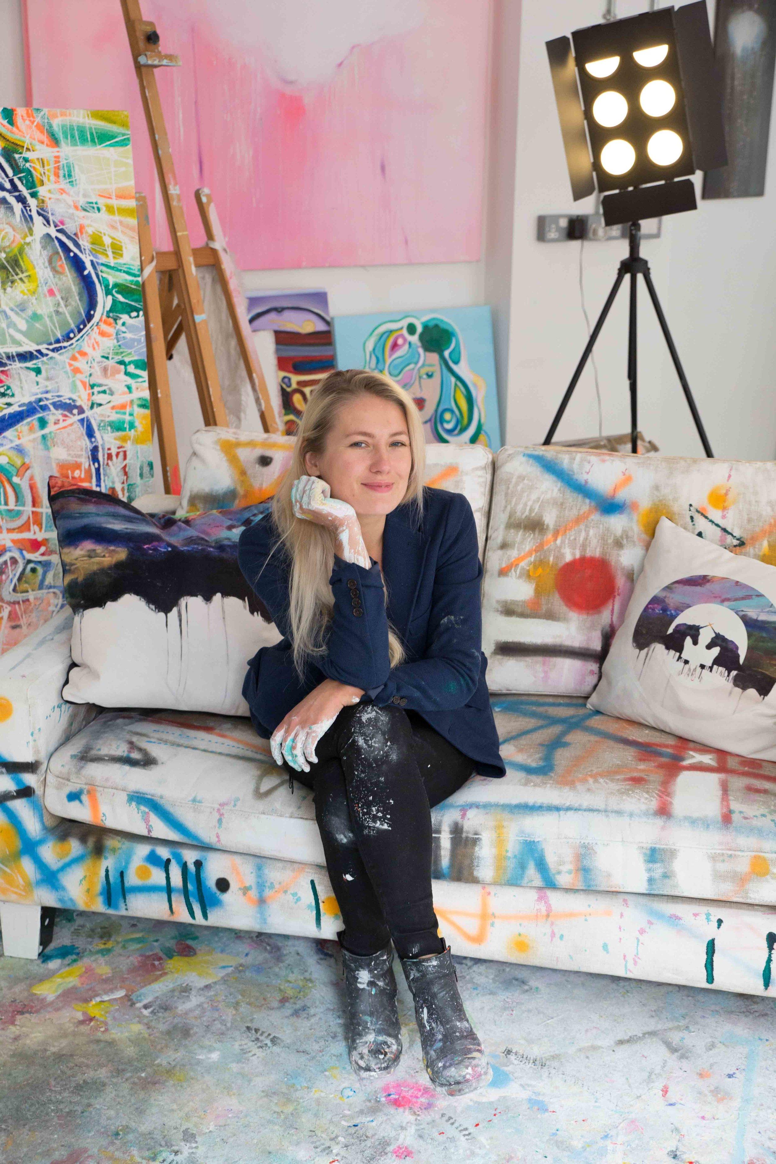 Meriliis MERU Rinne in her studio, London UK