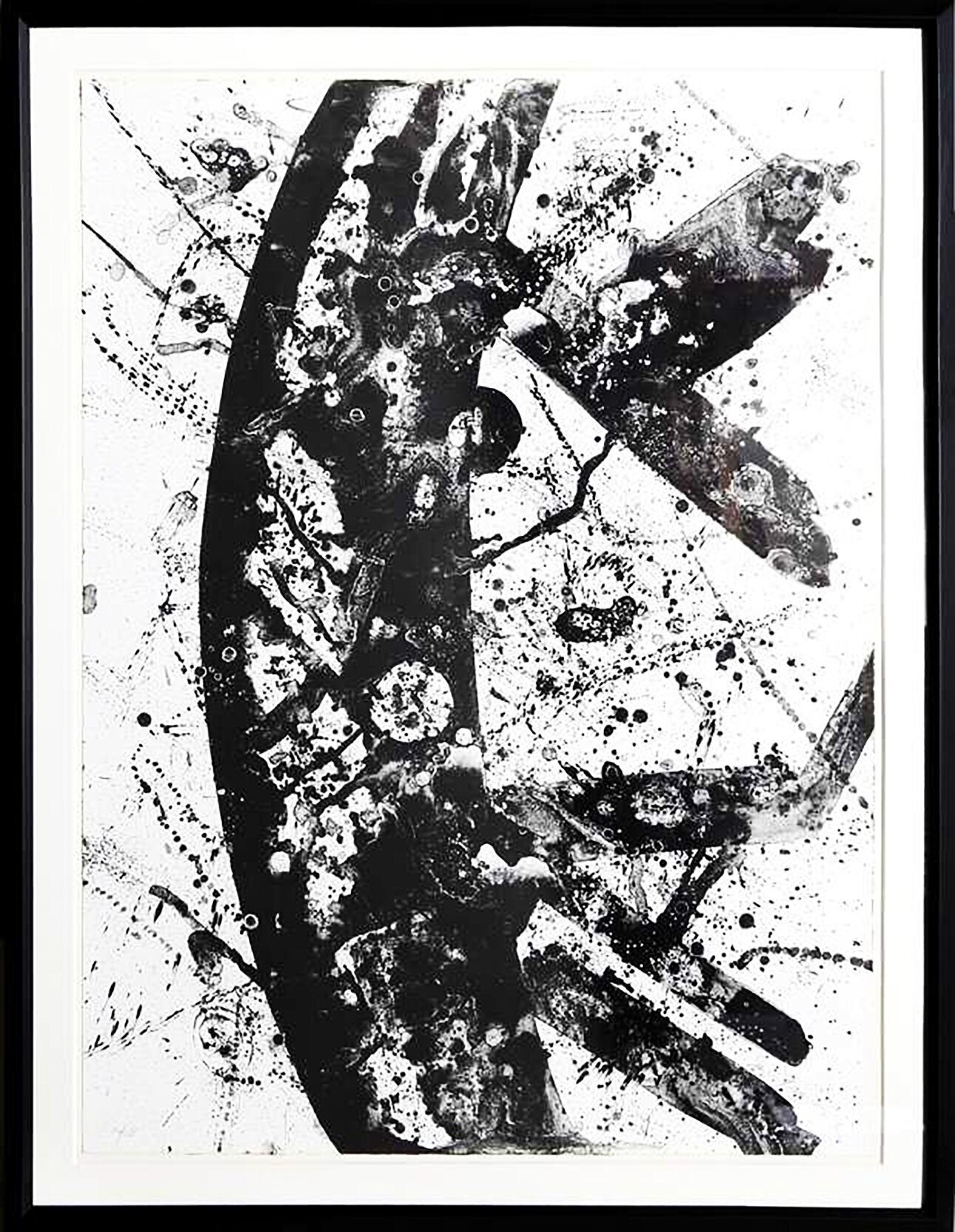 Untitled (SF-196) , 1975  Lithograph  From the numbered edition of 28  Approx. 36 x 60 inches framed  $2000   Provenance   Artist to Anonymous Collector to  Santa Monica Auctions to ViCA   Exhibitions   Santa Monica Auctions, 2017  Art In Place, ViCA/Newberry Lofts, 2017-2018  Art in a New Place, ViCA/Long Beach Museum of Art Annex, 2018  A History of Venice, Mike Kelley Gallery, 2019