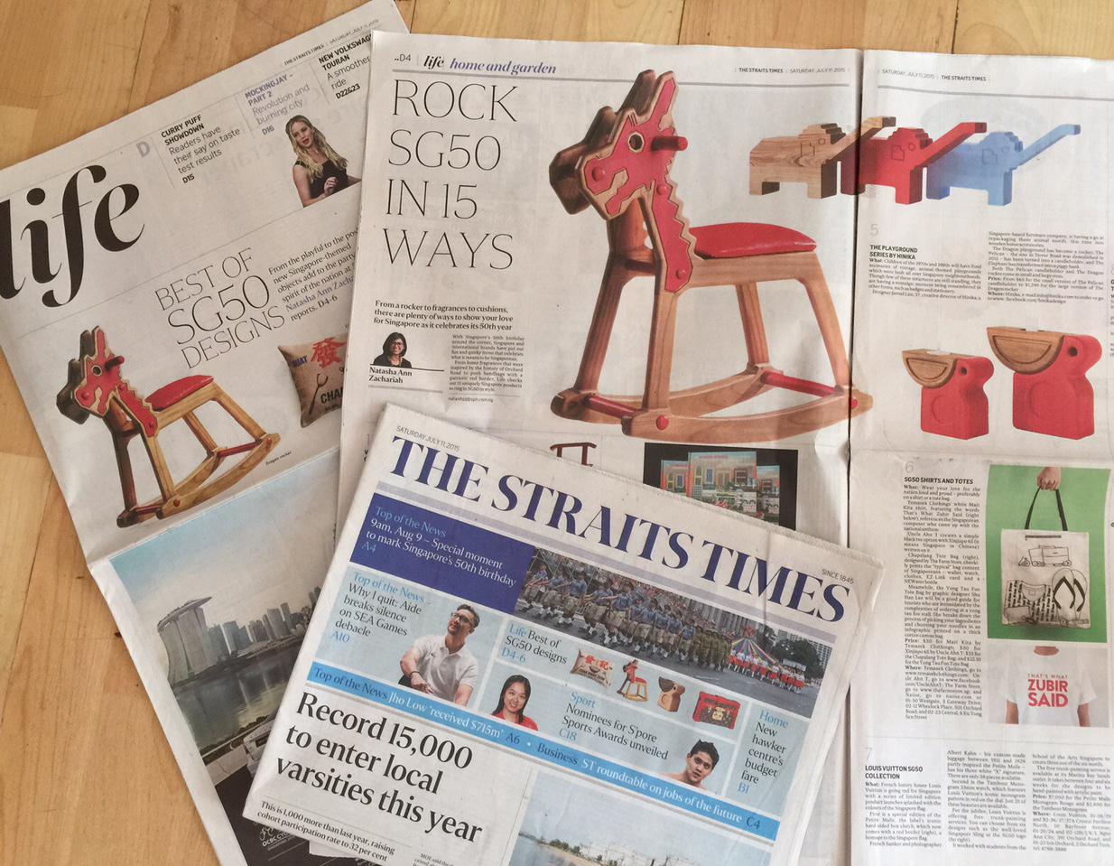Hinika Playground series newspaper feature