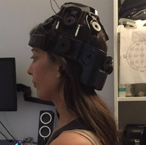 Getting a qEEG (with poor neck posture).