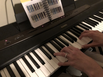 Chopin-sized hands.