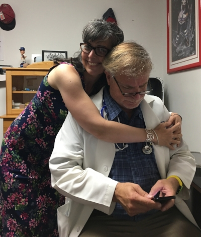 Hugging my Favorite Person, Dr. Plance.