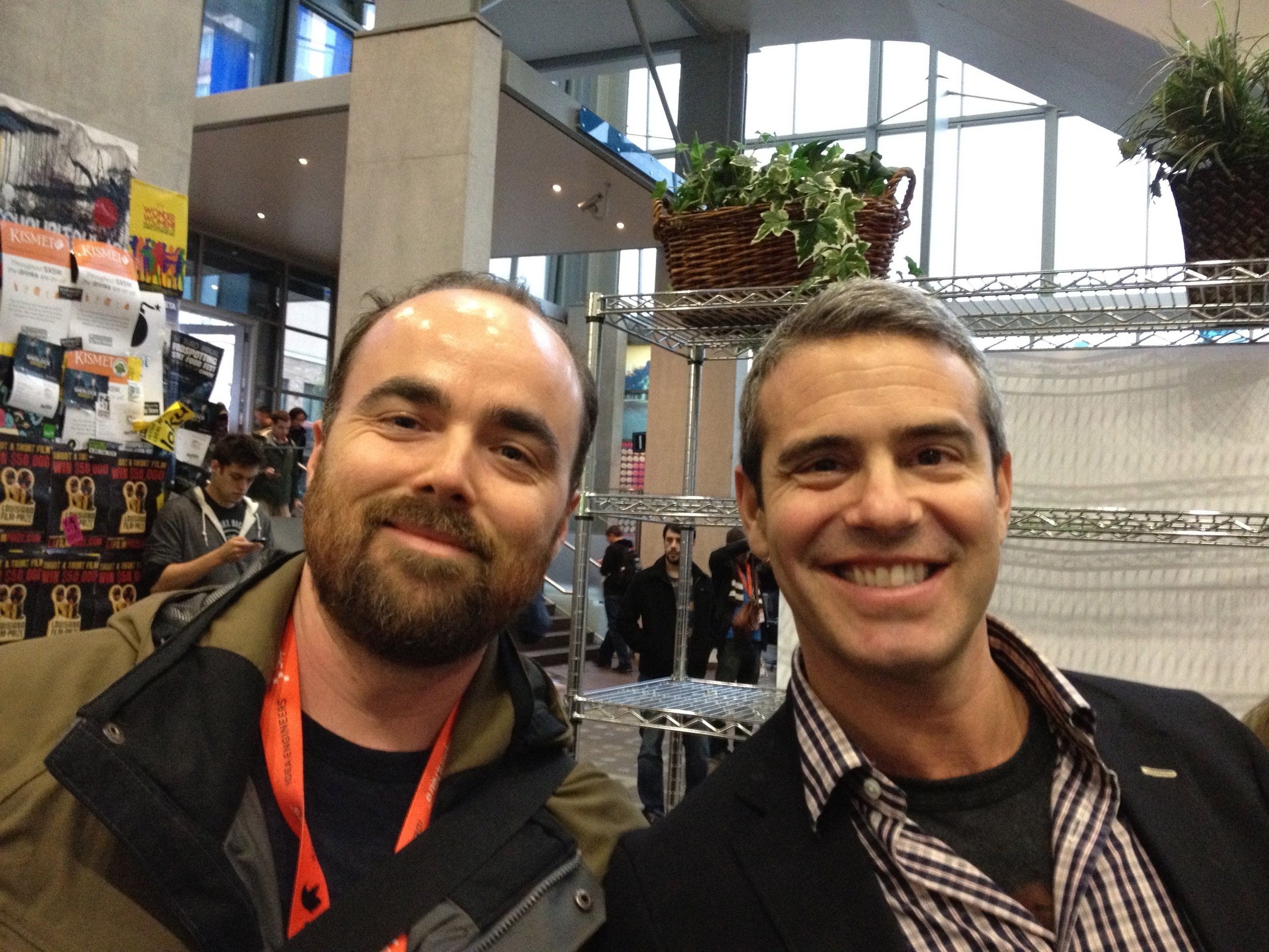 Mr. Pennington and Andy Cohen at SXSW 2011.