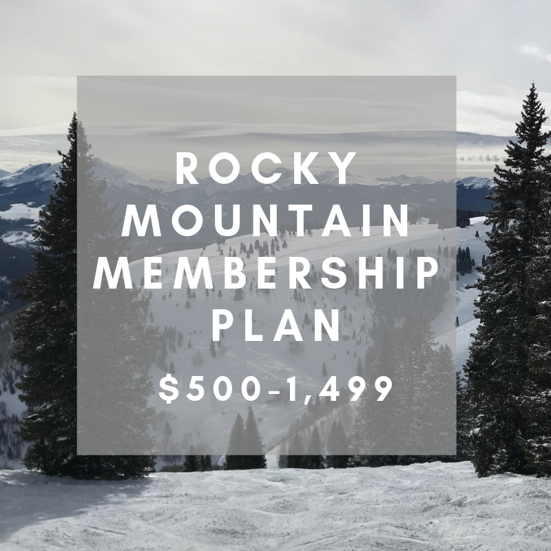 ROCKY MOUNTAIN MEMBERSHIP- $500-1,499   Your contribution allows us to increase the number of ACC sponsored events and campaigns. This helps us more effectively spread our message and provides us with more opportunities to partner with other organizations and legislative members.