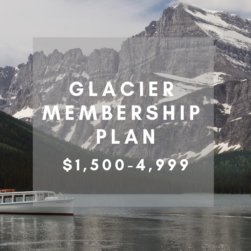GLACIER MEMBERSHIP- $1,500-4,999     ACC Distinguished Membership    Your contribution allows us to sponsor event attendance for our volunteers, expand our media partnerships, and launch new large-scale campaigns.
