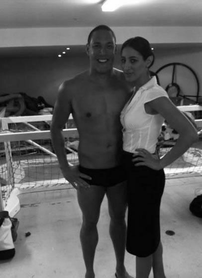 Olympic swimmer Geoff Huegill and Lena Kasparian