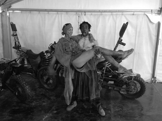 Last day on set next to the Mad Max bikes.