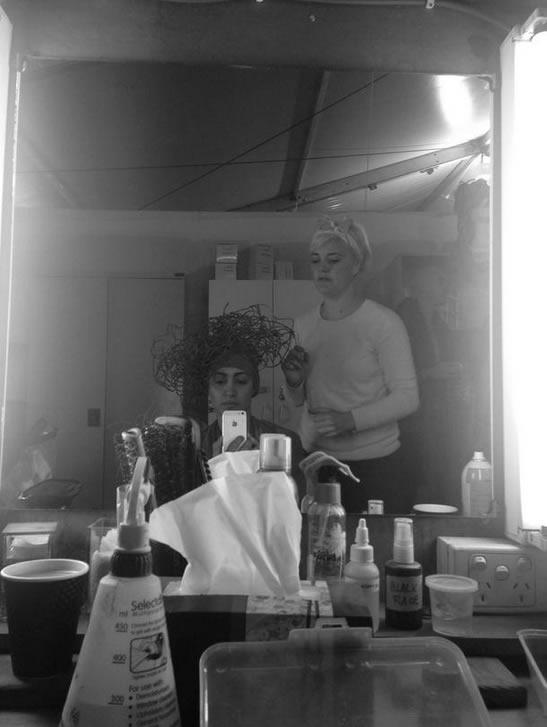 Lena Kasparian at hair and makeup.