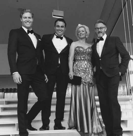 Amanda Keller from the Living Room tv show dressed and styled by Lena Kasparian for the 2015 Logies.