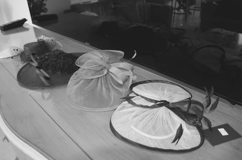 Fascinators for the shoot.