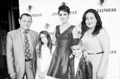 Kasparian pictured with her family.