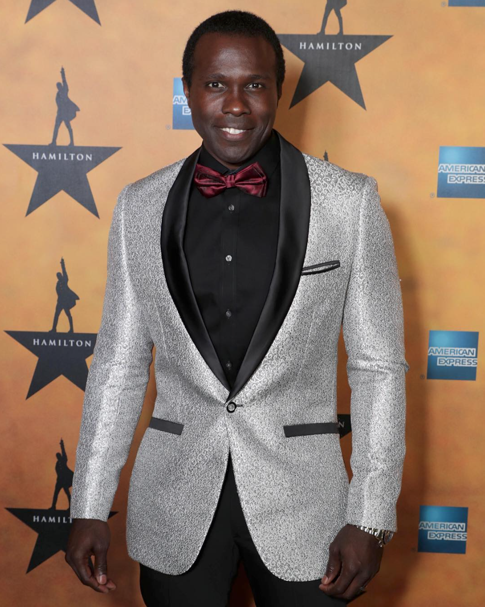 Joshua Henry attends opening night for Hamilton in Los Angeles -