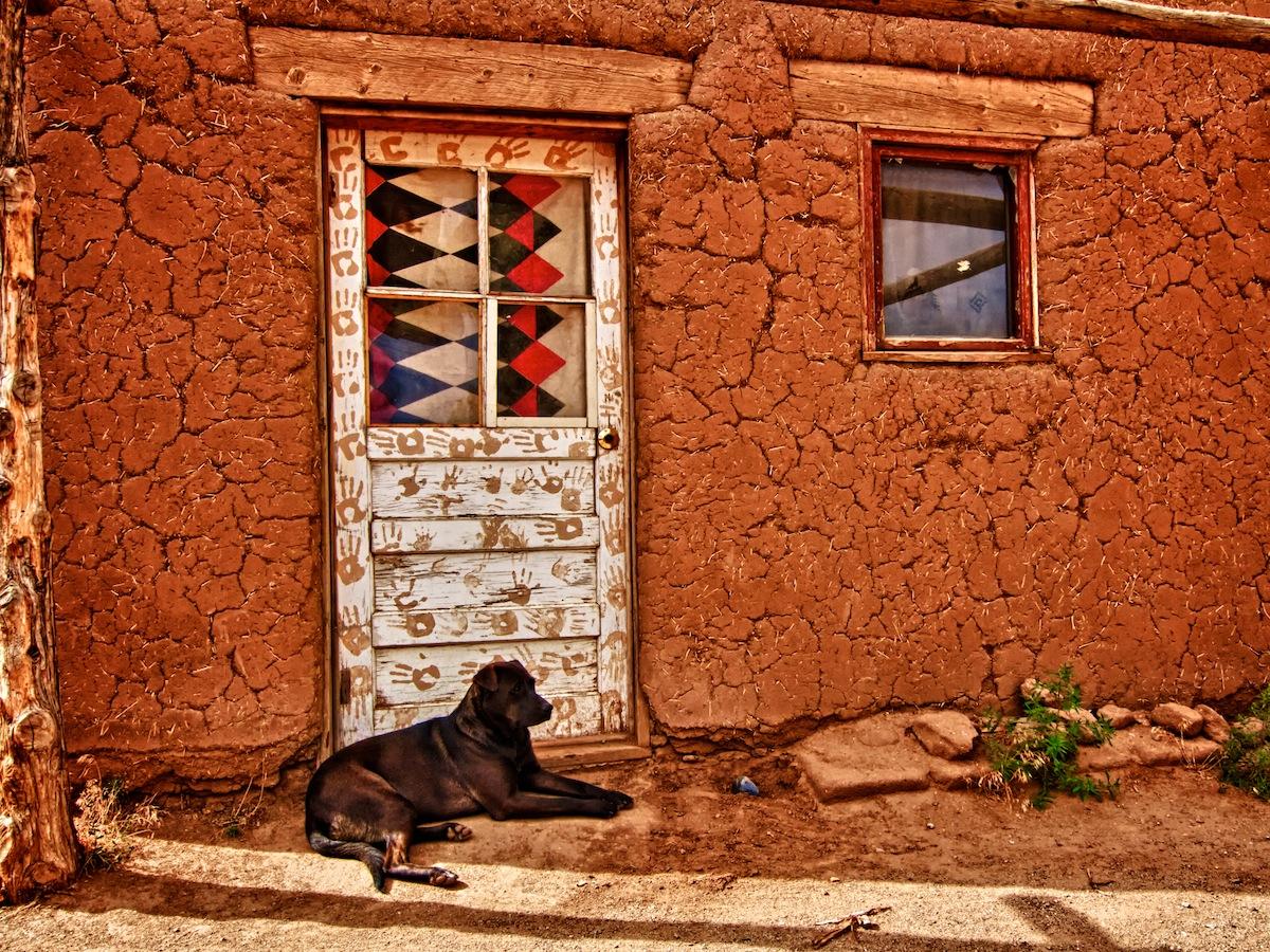 Door with Dog, Taos Pueblo New Mexico