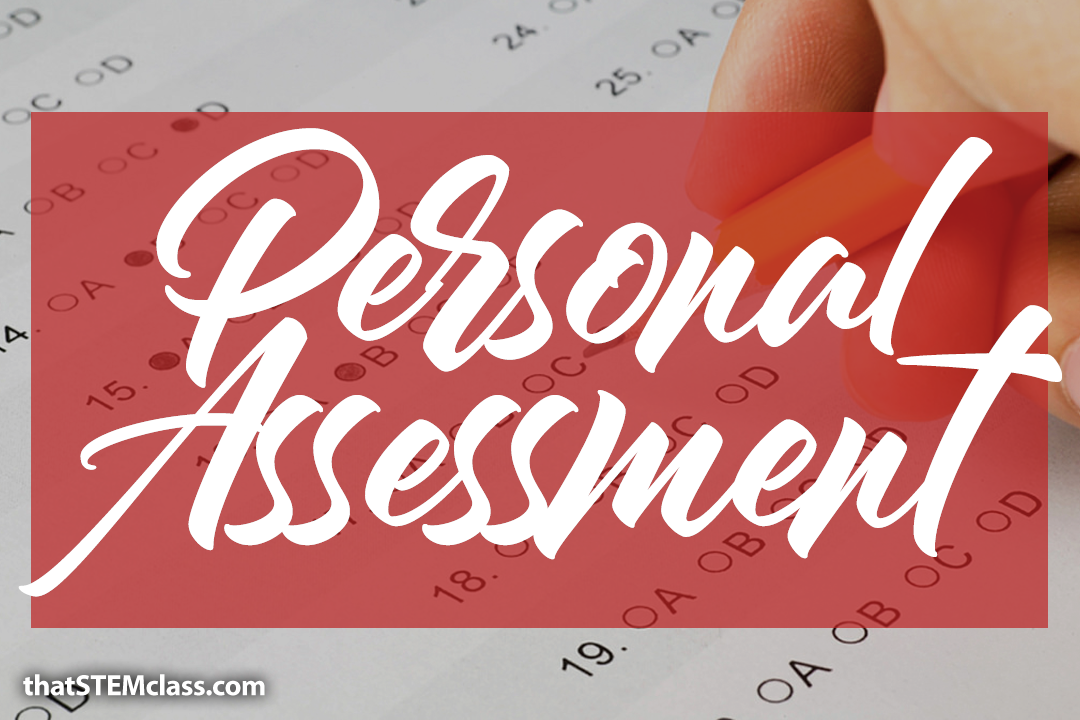 My Self-Assessment Results | found at  thatstemclass.com