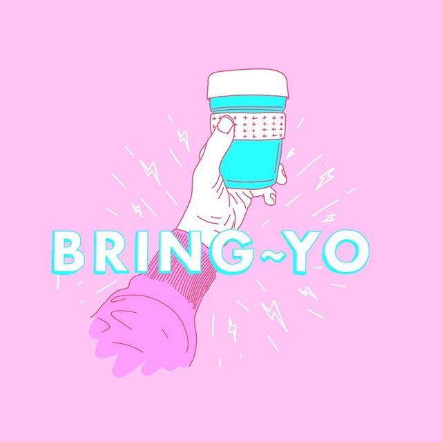 #byocoffeecup get a discount with Bring-Yo app. ⚡️because paper cups a a stone cold bummer