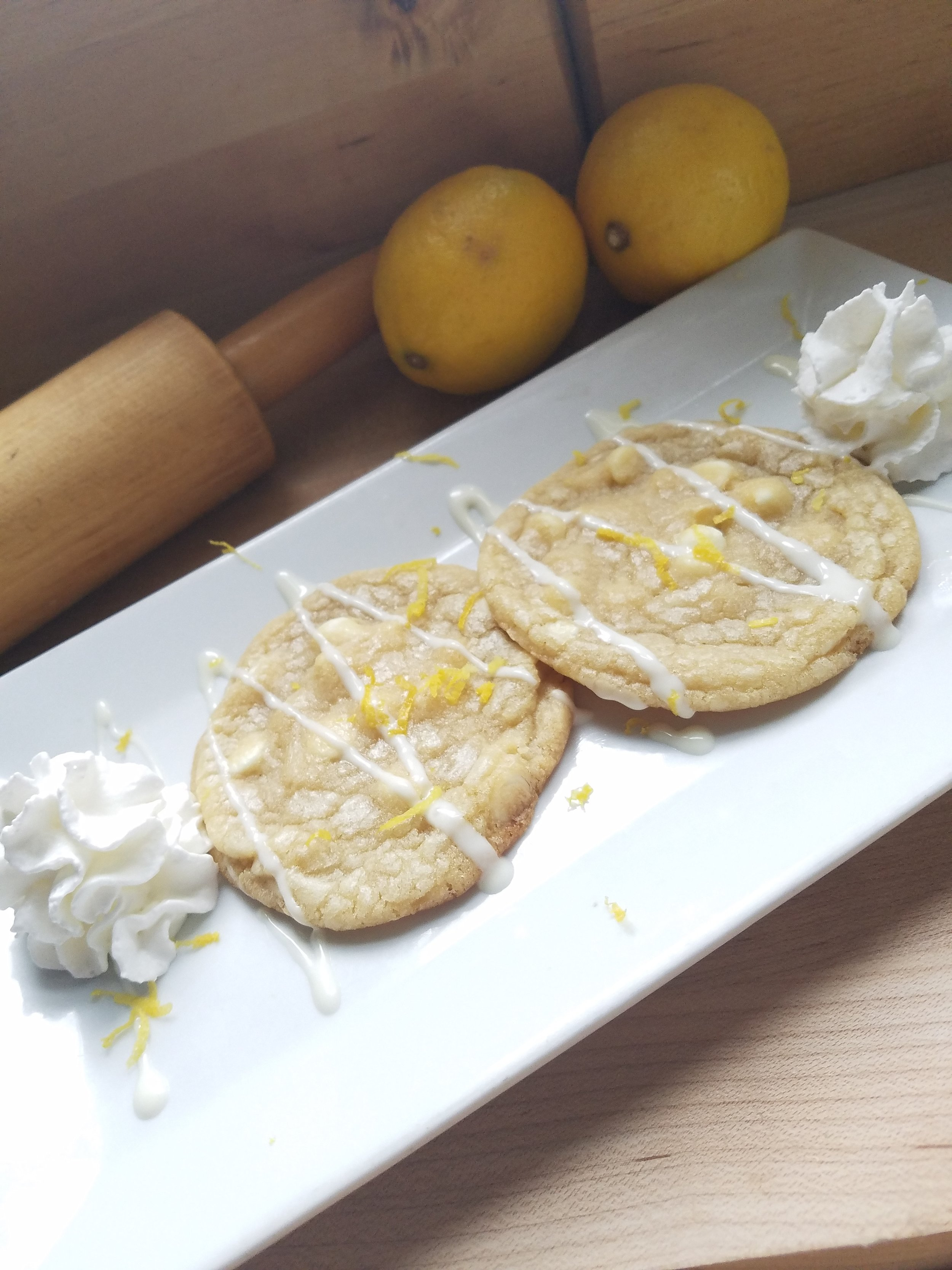 White Chocolate Chip Cookies with Lemon Zest