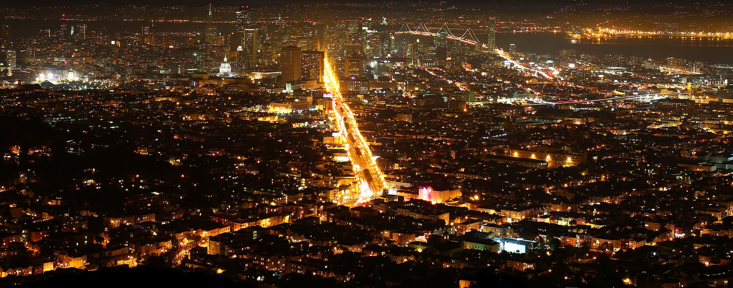 San Francisco at Night - View from Twin Peaks