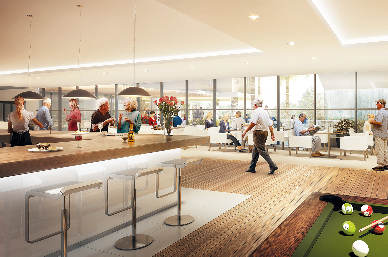 Indicative image of interior of proposed community facilities