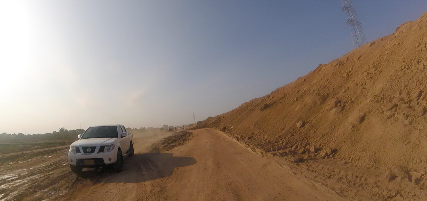 Off roading on my way to Buddha Park, Vientiane