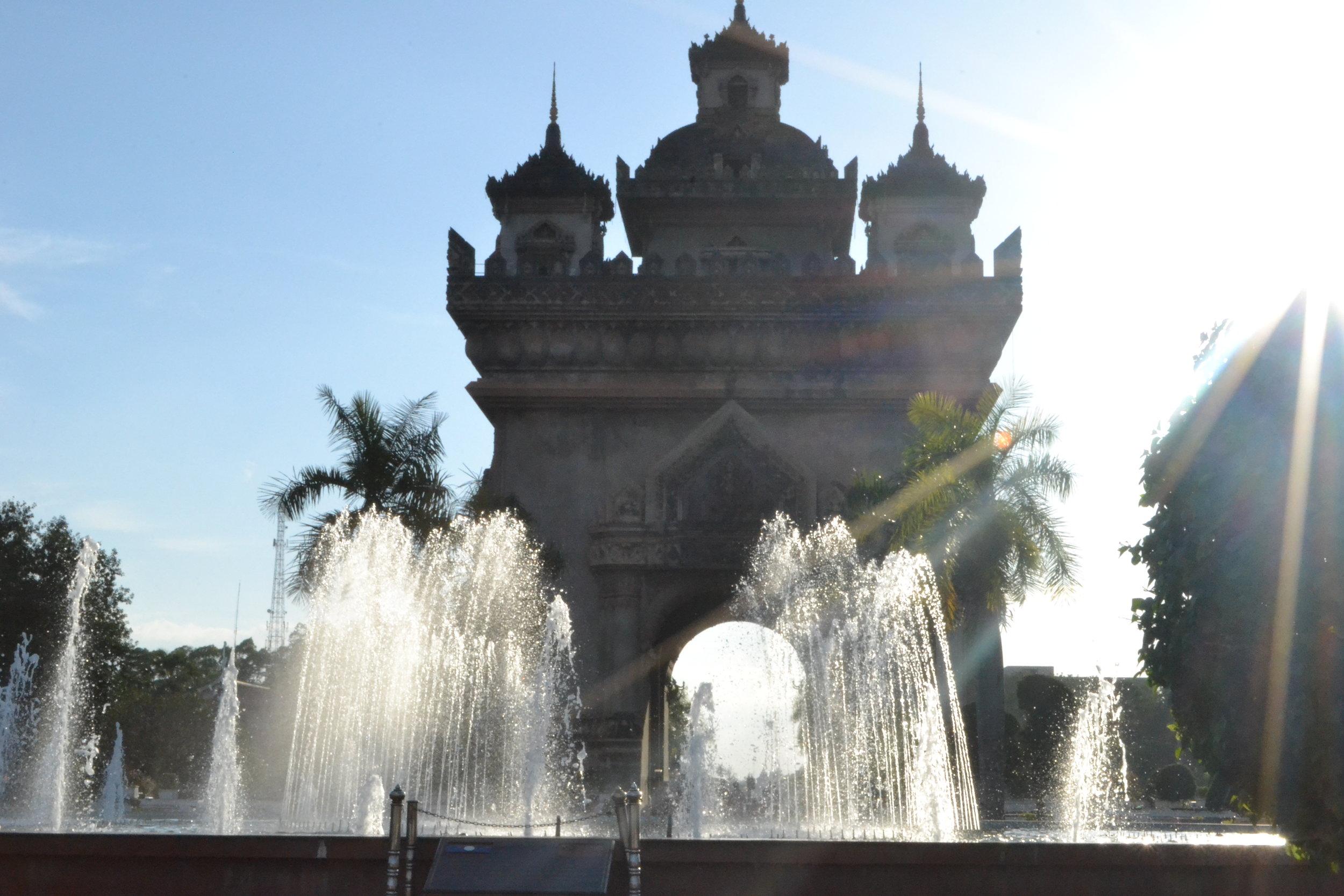 Patuxai Monument, Vientiane.