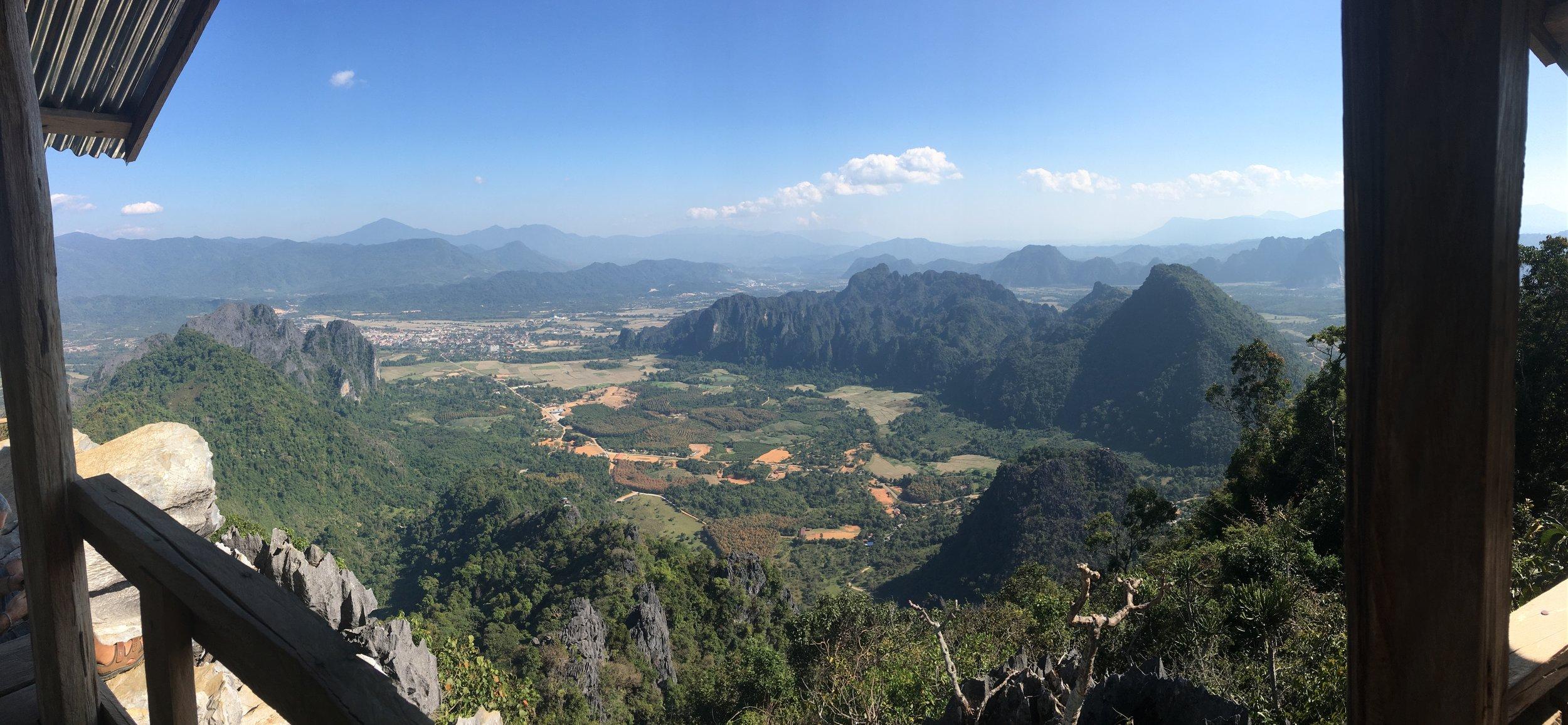 Impressive views from Pha Ngeun