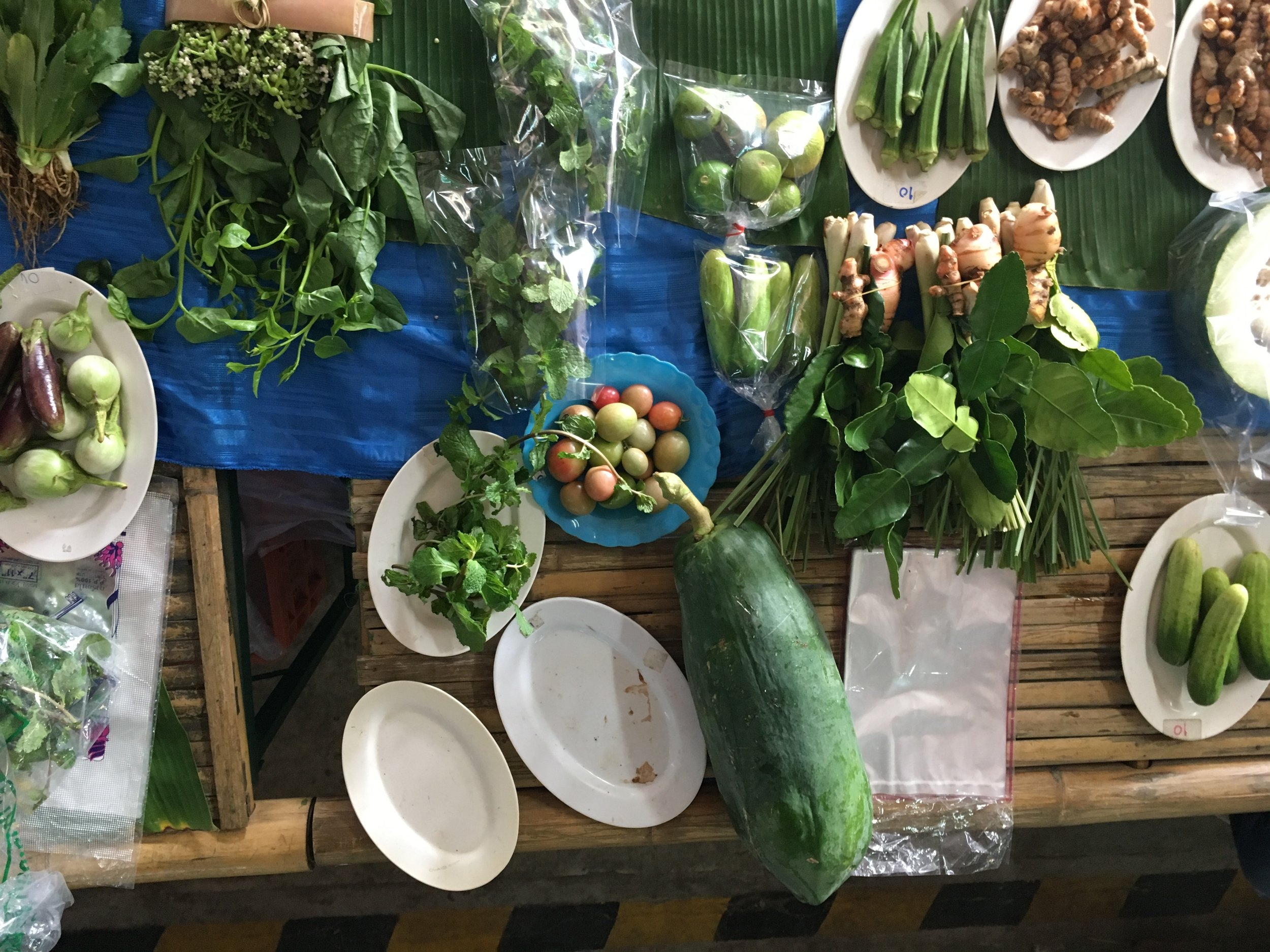 Morning food market in Chiang Mai