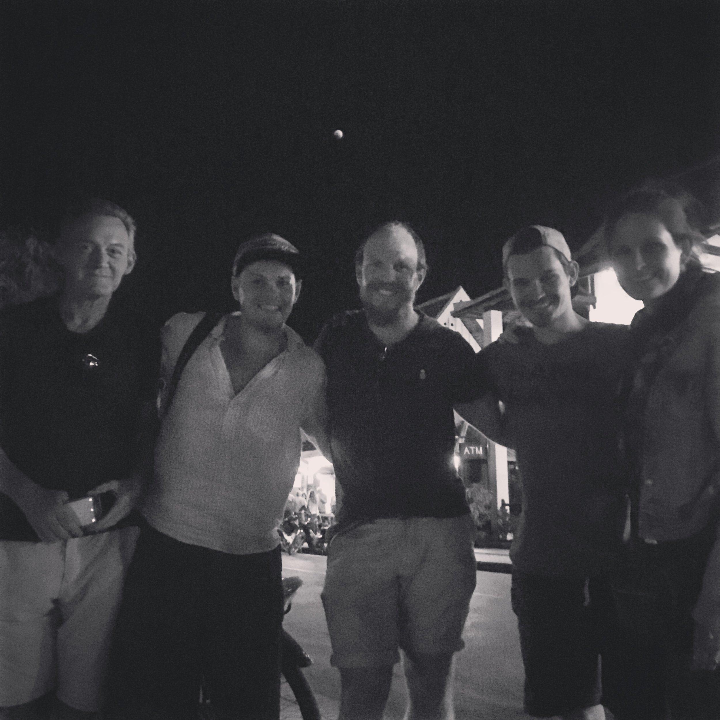L-R ; Captain Jack, Lorenz, moi, Rens & Eva