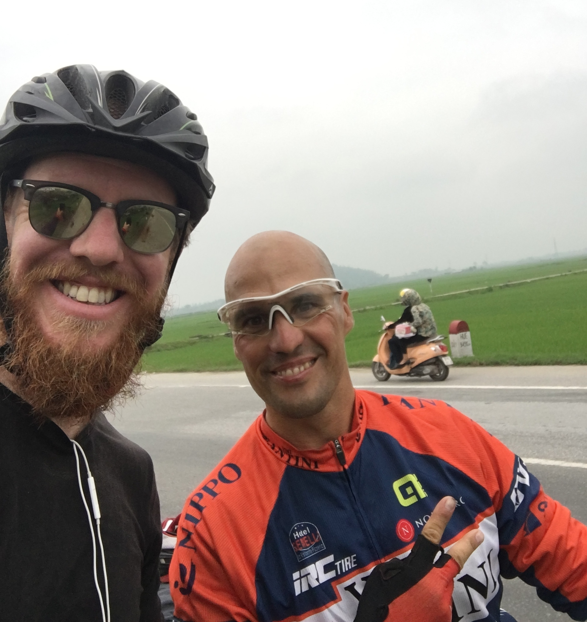 Meeting another Bike Tourer on the road is always a pleasure, regardless of the language barriers.