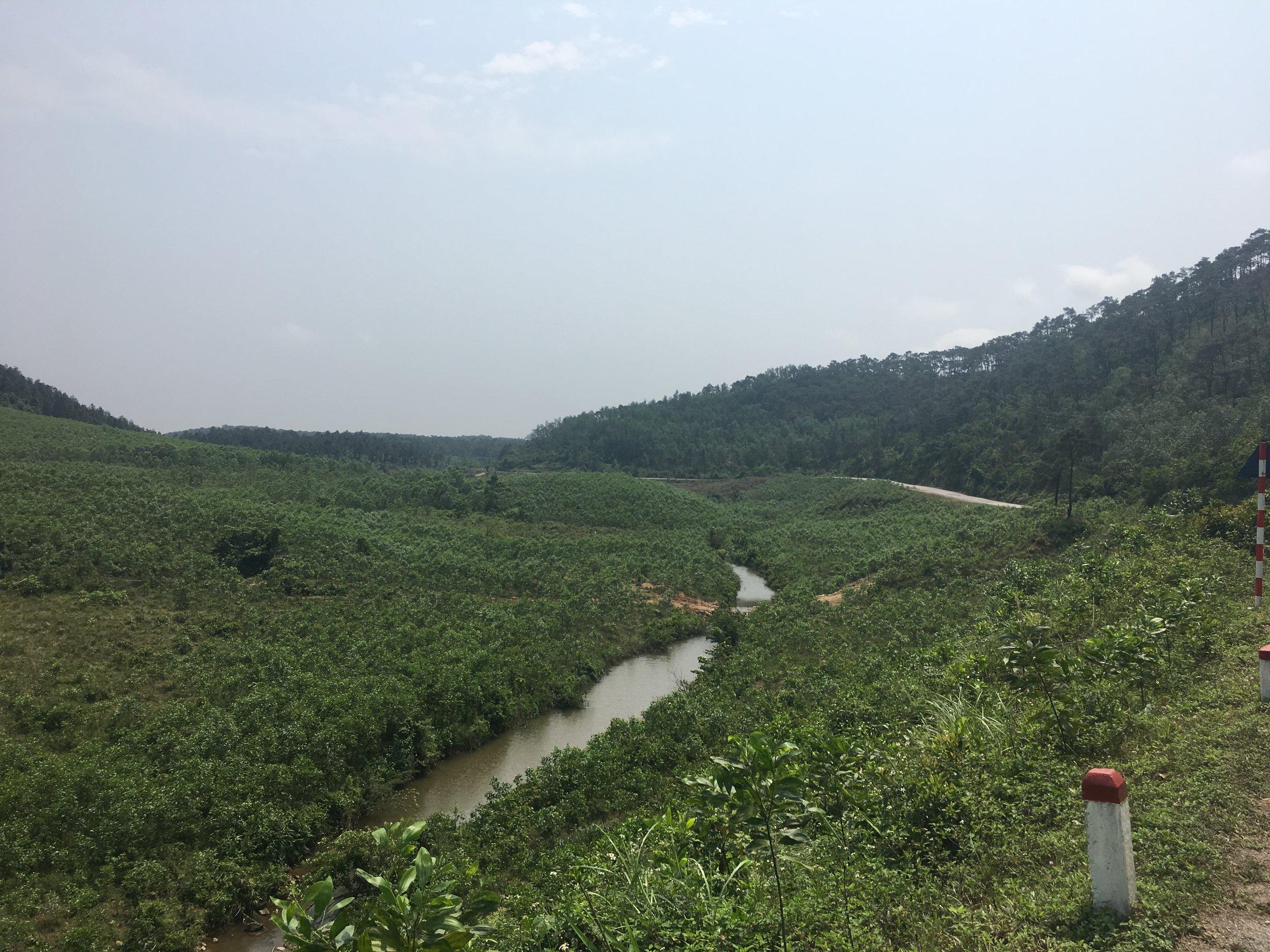 Leaving Phong Nha through the stunning countryside