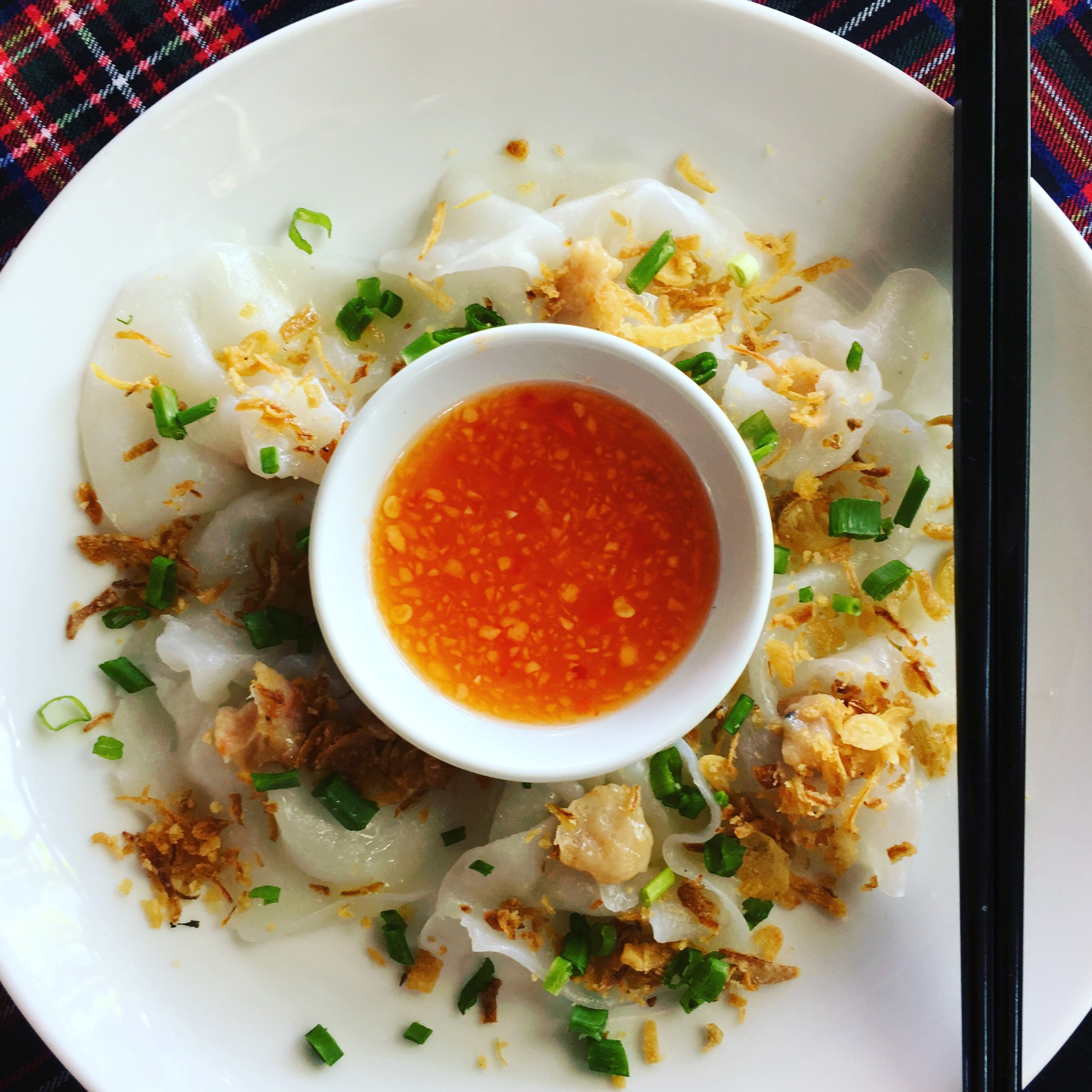 White Rose Dumplings only found in Hội An.