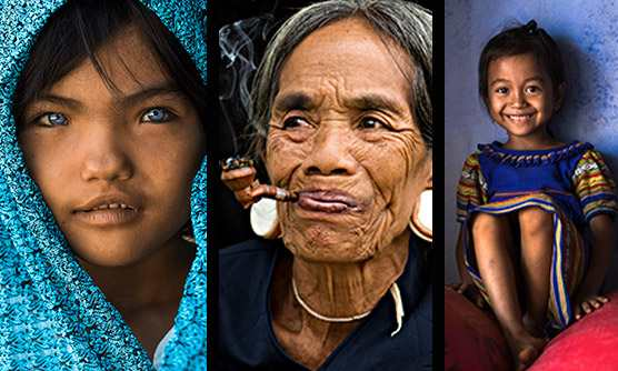 Some of the incredible photographs in Rehahn's Gallery in Hội An Town