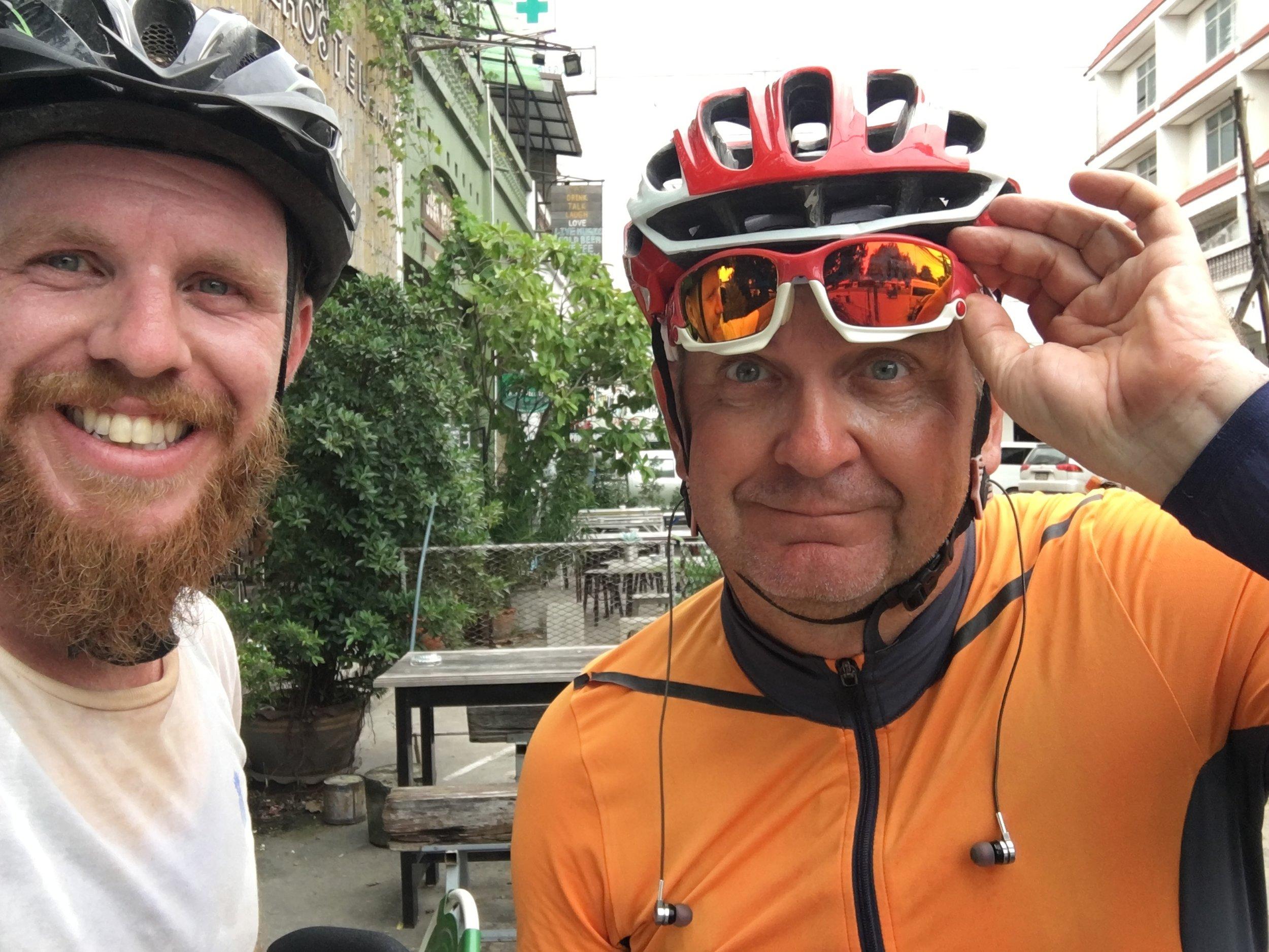 Arriving in Ayutthaya, with Polish Paul, 80km from Bangkok