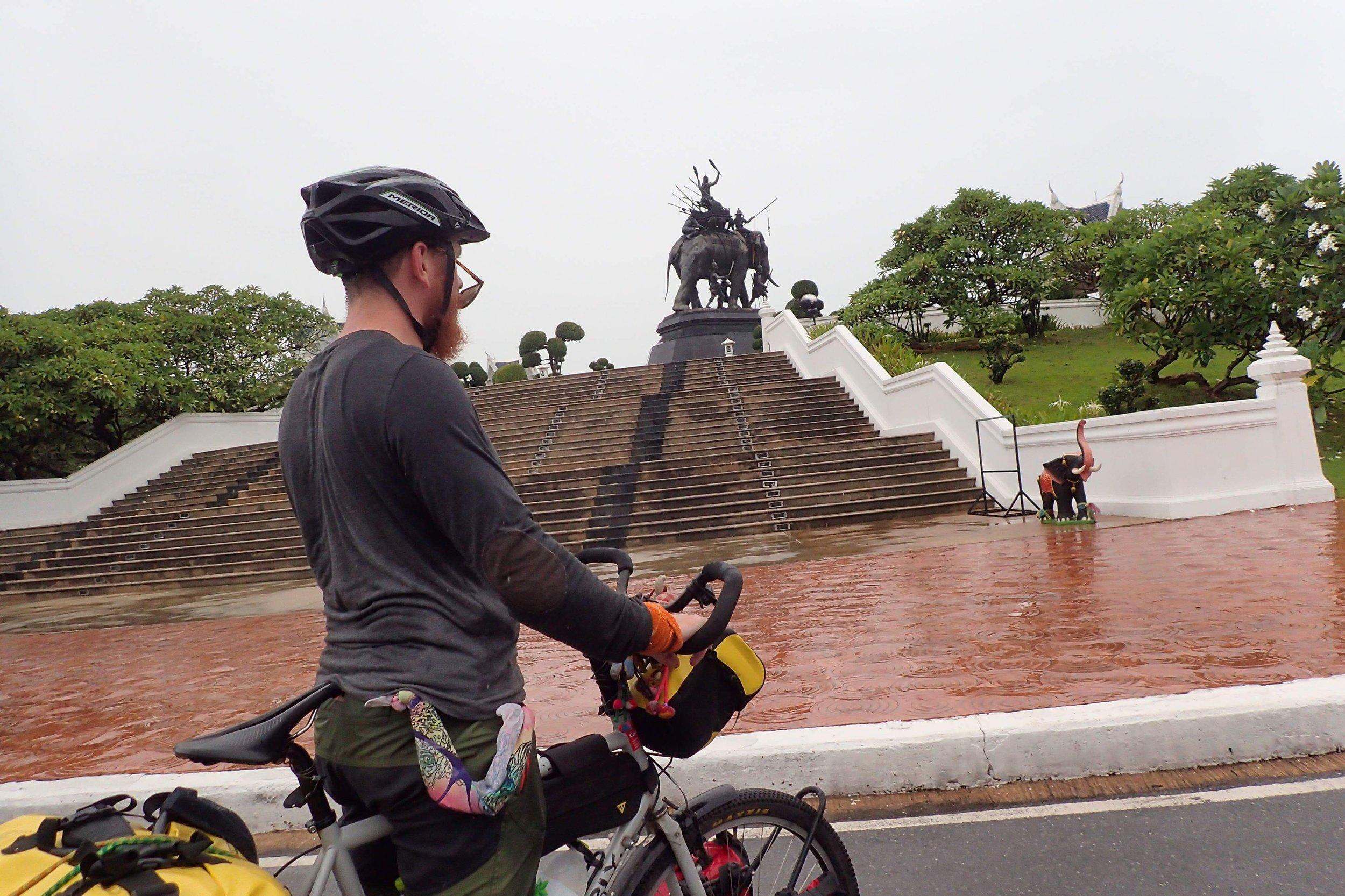 One of the many monuments surrounding Ayutthaya