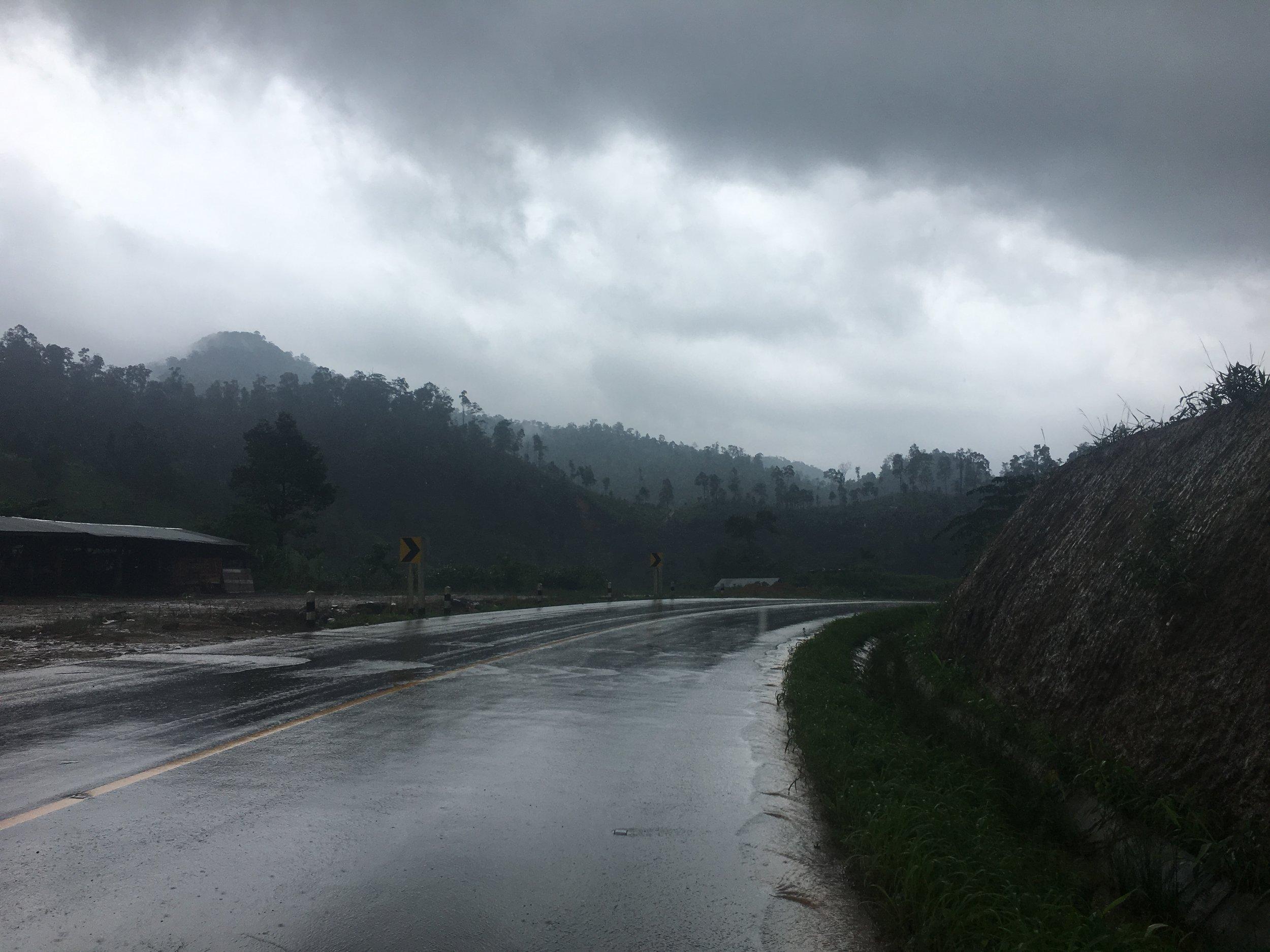 Flowing mountain roads