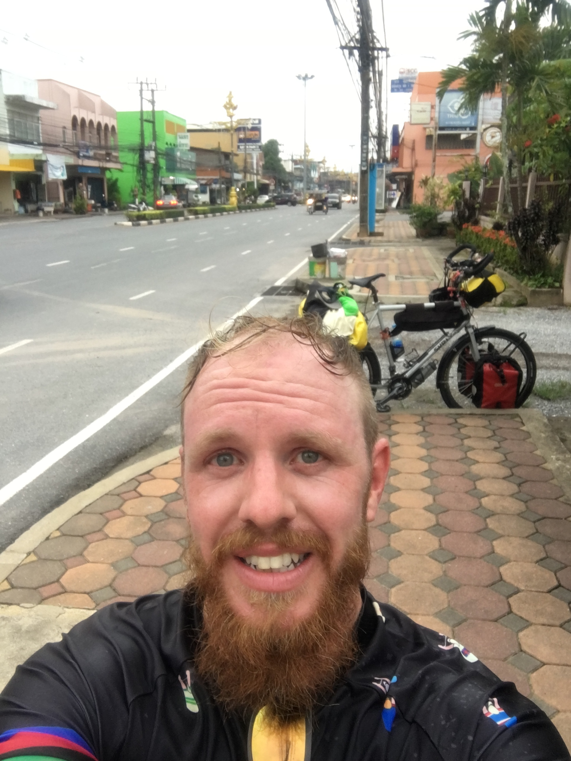 Arriving in Satun, the last town in Thailand before entering Malaysia the next morning.
