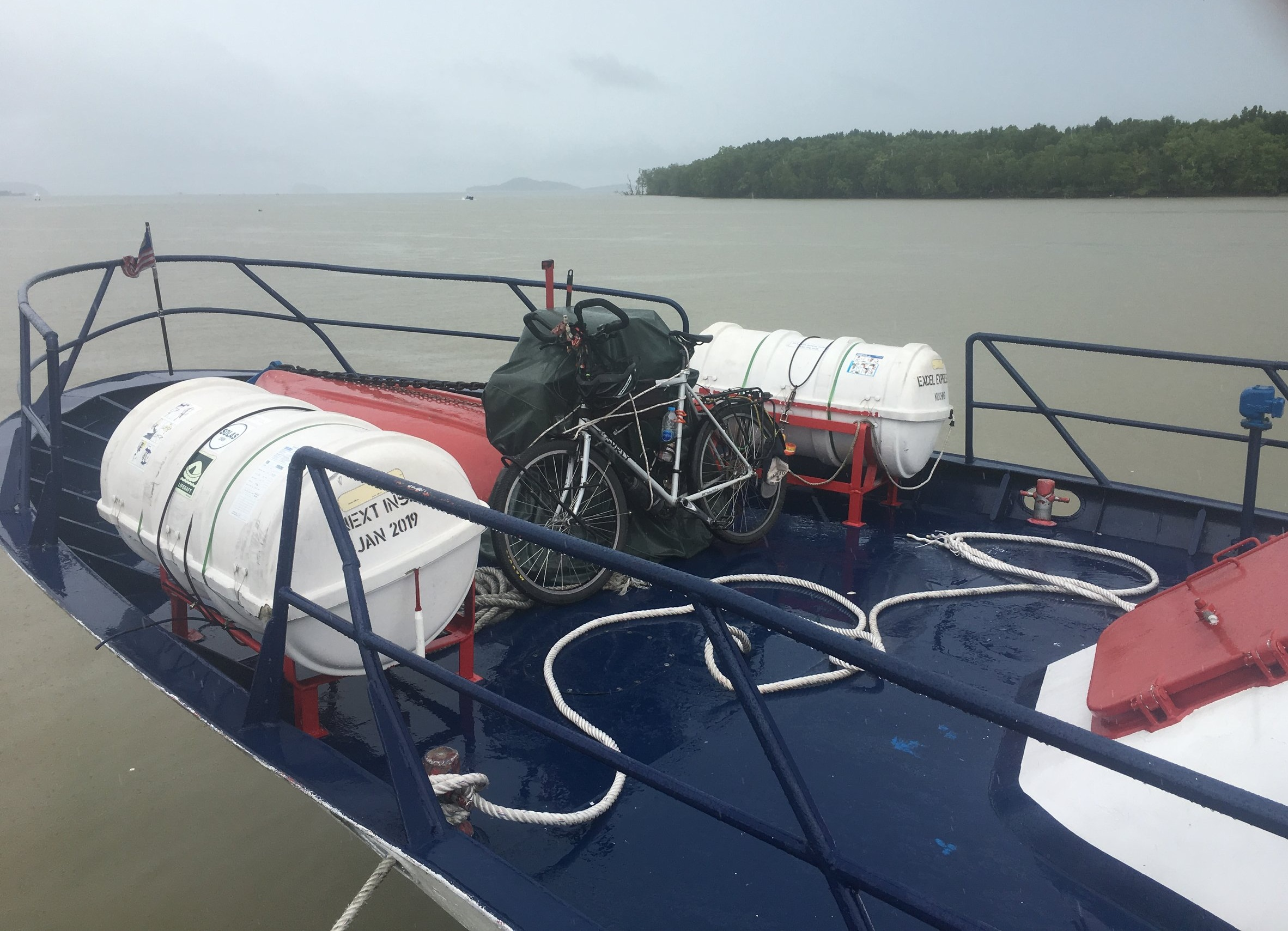 Surley Temple loaded onto the boat on route to Langkawi Island, Malaysia