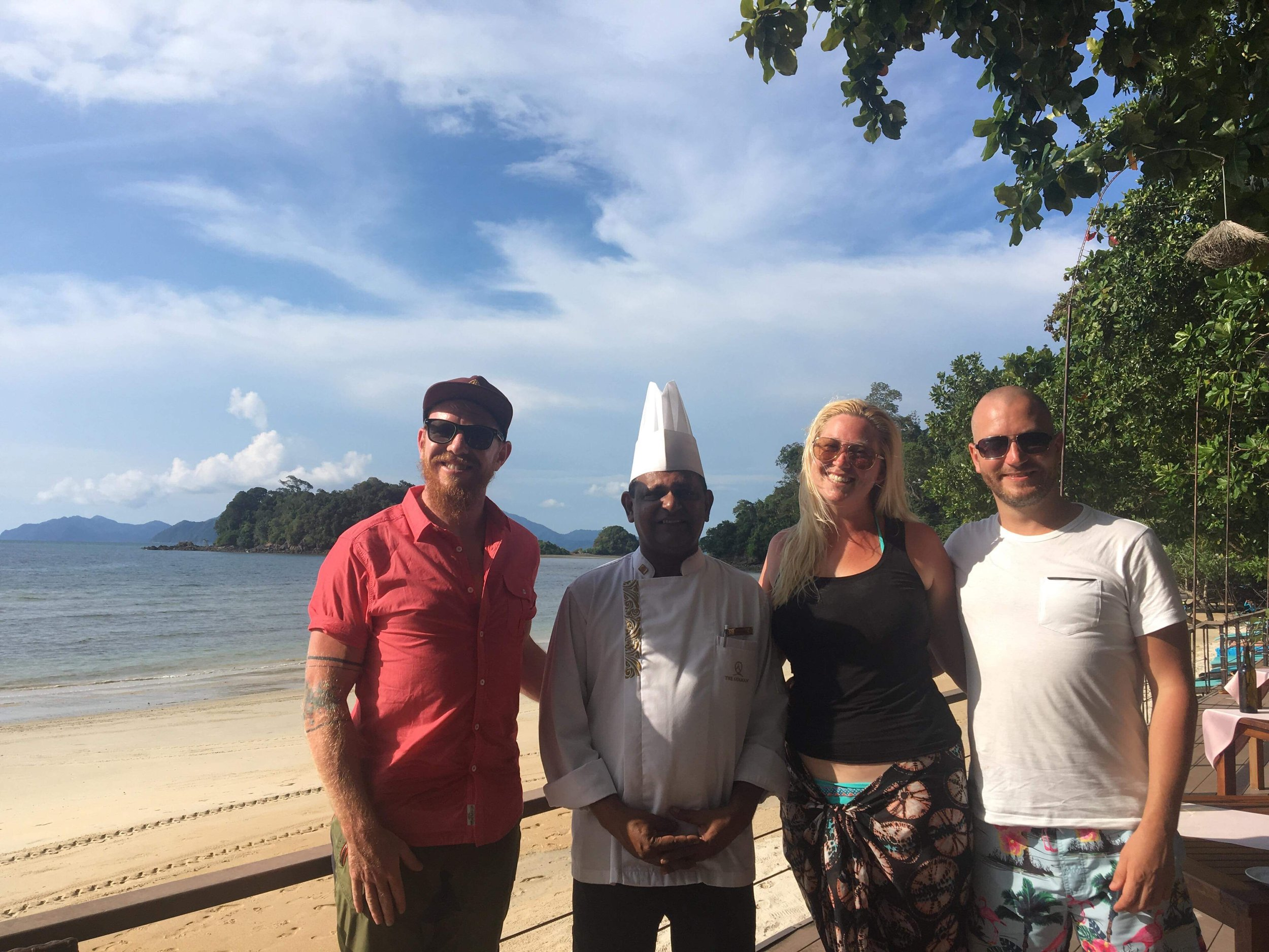 Chef Sankaran, Jess, Mark and I