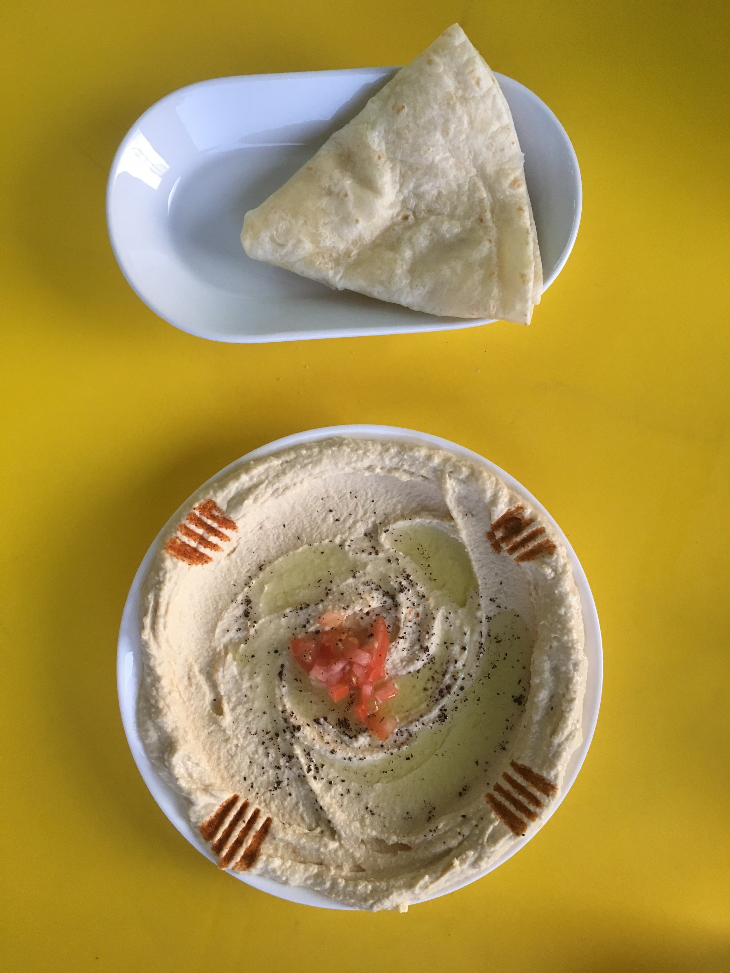 You can't go to an Middle Eastern restaurant and not have Hummus.