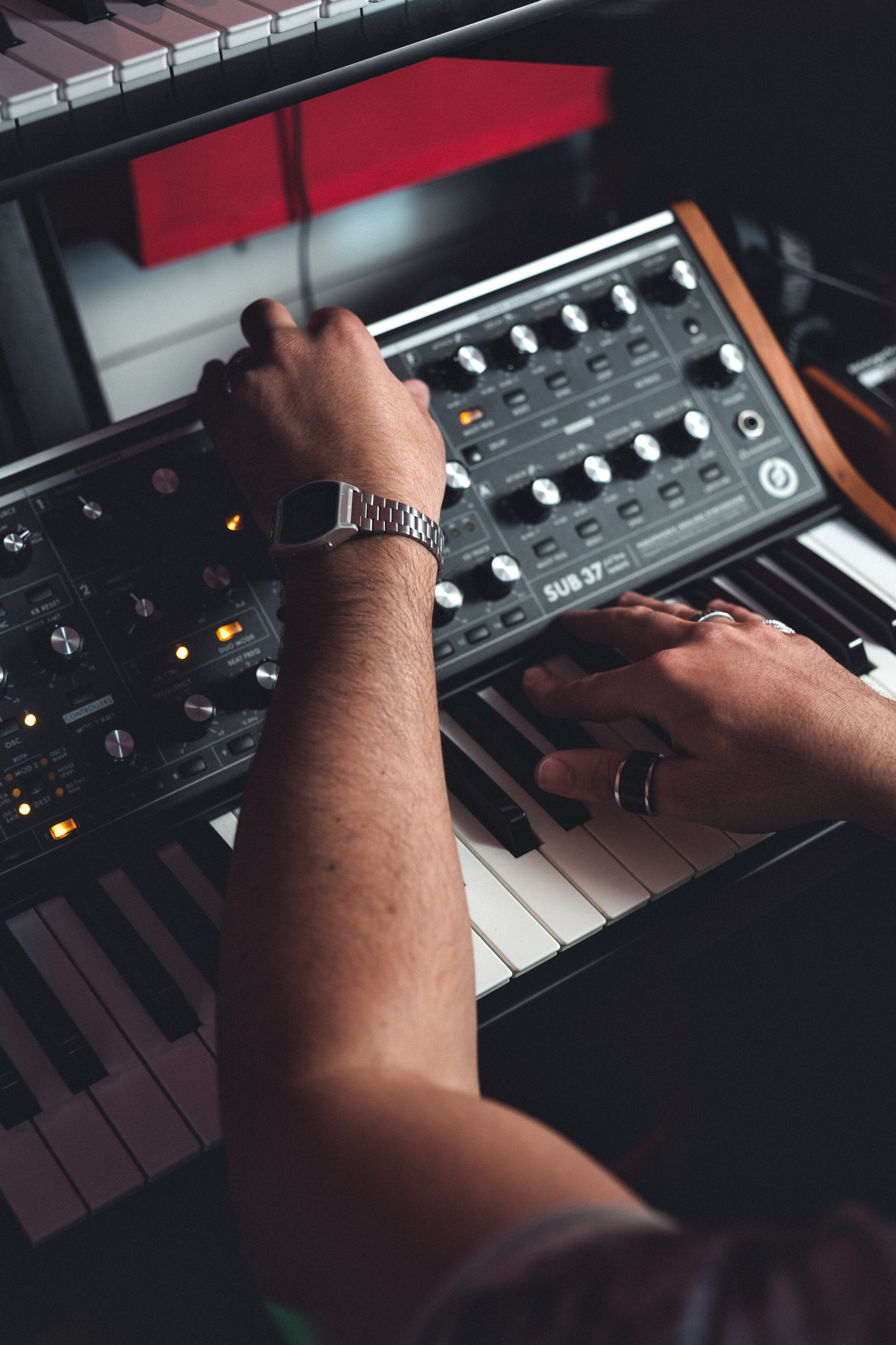 Moog Synth Spike Leo Recording Studios