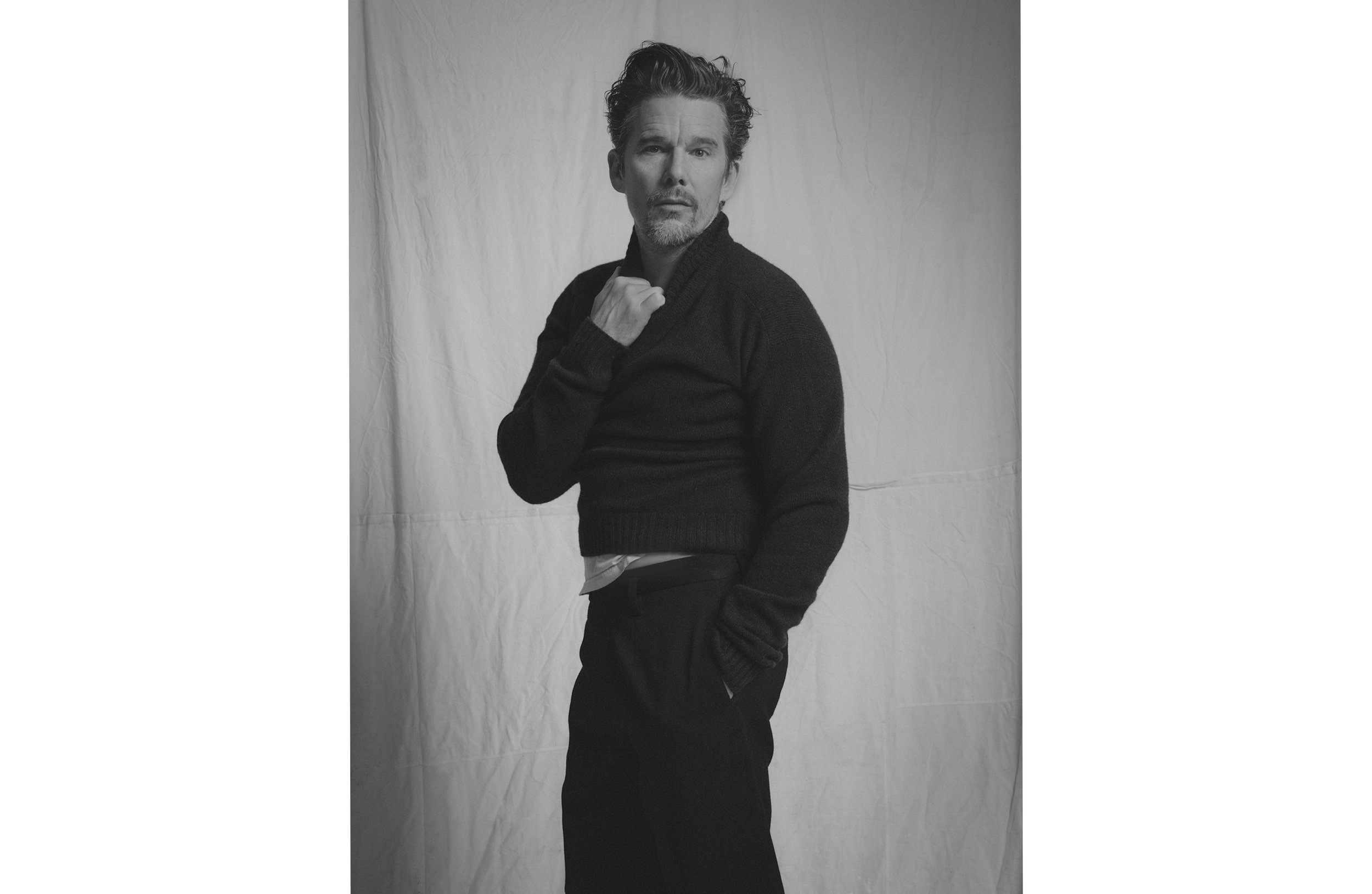 ETHAN HAWKE FOR ESSENTIAL HOMME, PARIS 2018