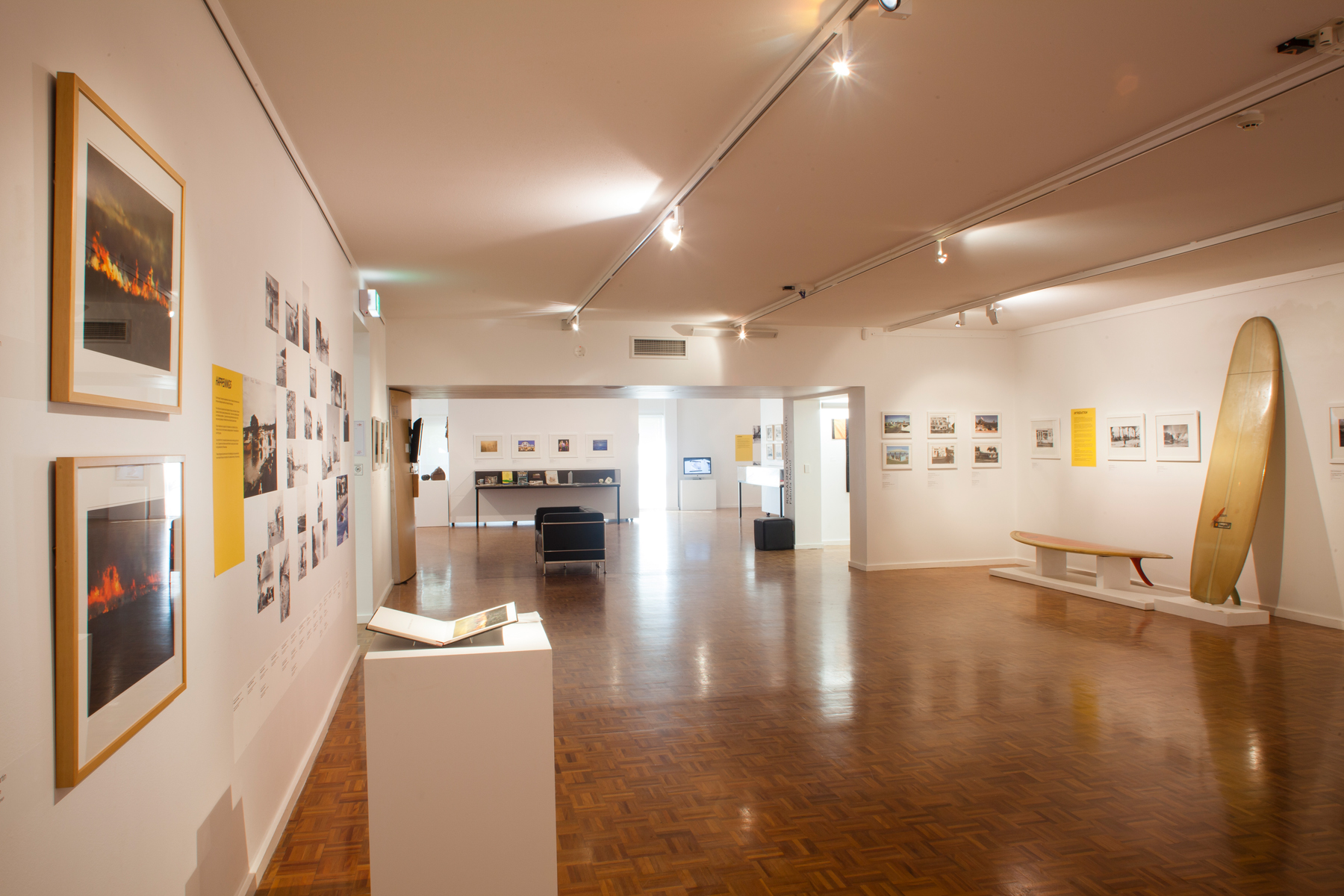 What's up sunshine? - What's up Sunshine? is a pictorial portrait of Noosa and the region over the last 50 years. Presenting over 400 photographs and memorabilia the exhibition reveals the many stories of the people and events that have shaped the culture and character of the region.  The exhibition features photographs and video from by leading local and Queensland artists including Glen O'Malley, Mal Sutherland, Judy Barrass, Emma Freeman, Brian Rogers, Bianca Beetson, James Muller, Larisa Salton, Lin Martin, Raoul Slater, Blair McNamara and Andy Staley.It also features many images from the Picture Noosa collection by press photographers Bill Griffiths and Ian Murray.
