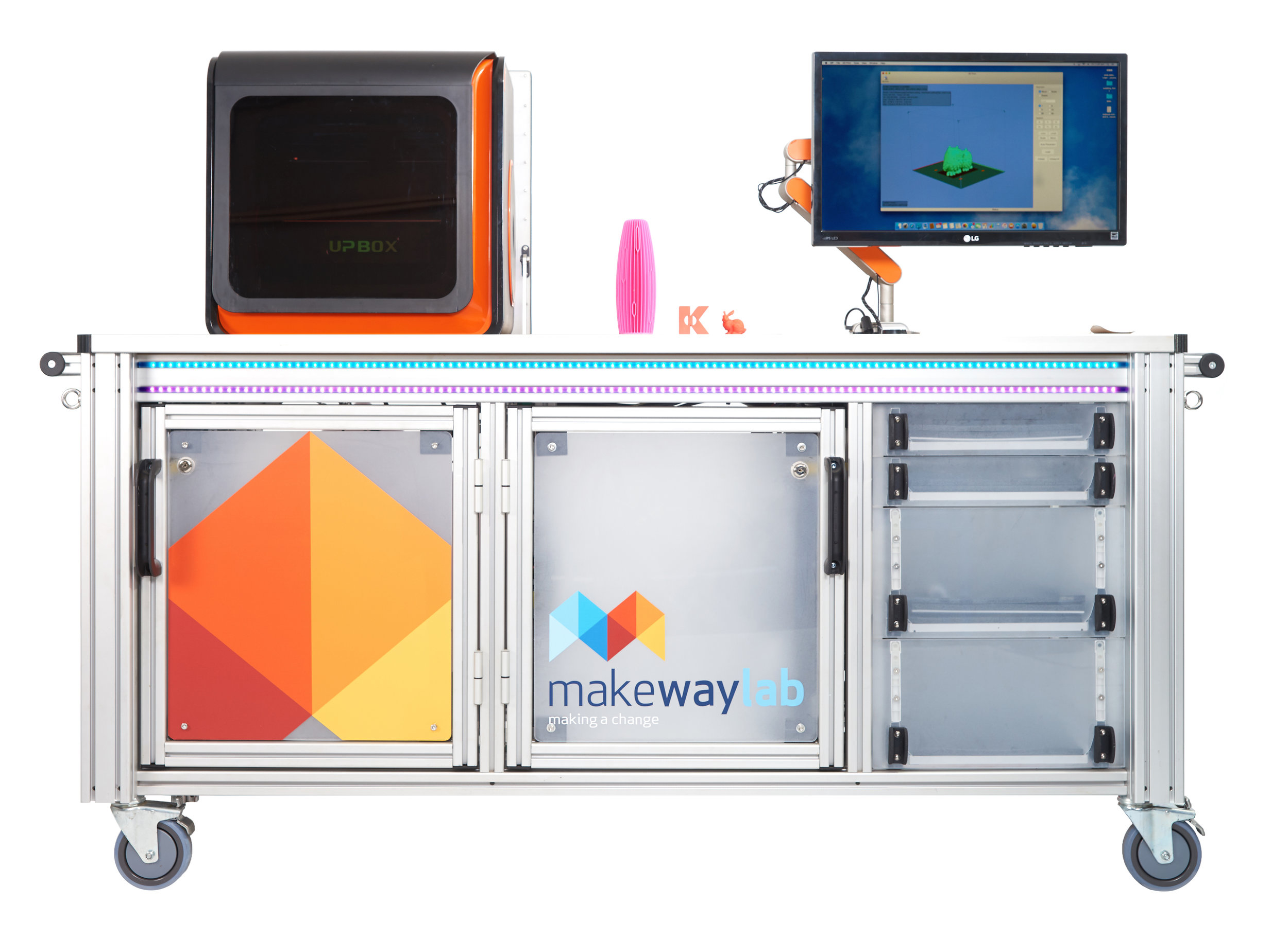 makeway Lab · hospital makerspace - The Makeway Lab · Hospital Makerspace is a creative health initiative being developed by Blue Sky View and researched by John Waldron through the Queensland University of Technology (QUT).The Makeway Lab provides patient access to innovative technology and participatory programs to improve their health and well being.The Hospital Makerspace is a mobile facility equipped with digital design and fabrication technology such as, 3D printers, digital scanners and cutters that participant can interact with, to learn and create interesting things.In 2019 a research project will take place with 15 to 20 dialysis patients on the Sunshine Coast to determine the benefits of the Makeway Lab in the hospital environment.