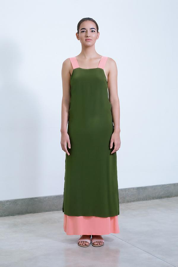 Asha layered dress - Olive_Coral.jpg