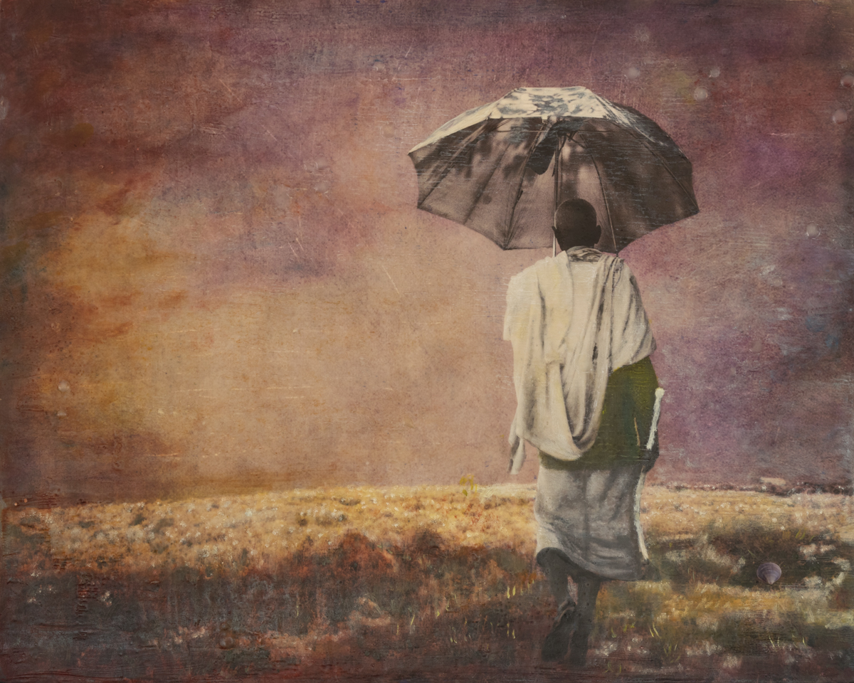 Carol Mell _ Giants in the Earth _ Old Man with Umbrella.jpg