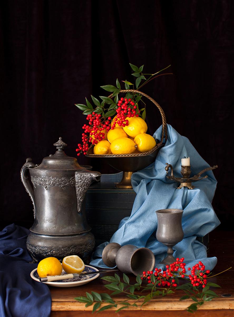 Yelena Strokin _ Dutch Style Still Life _ Lemons and Berries.jpg