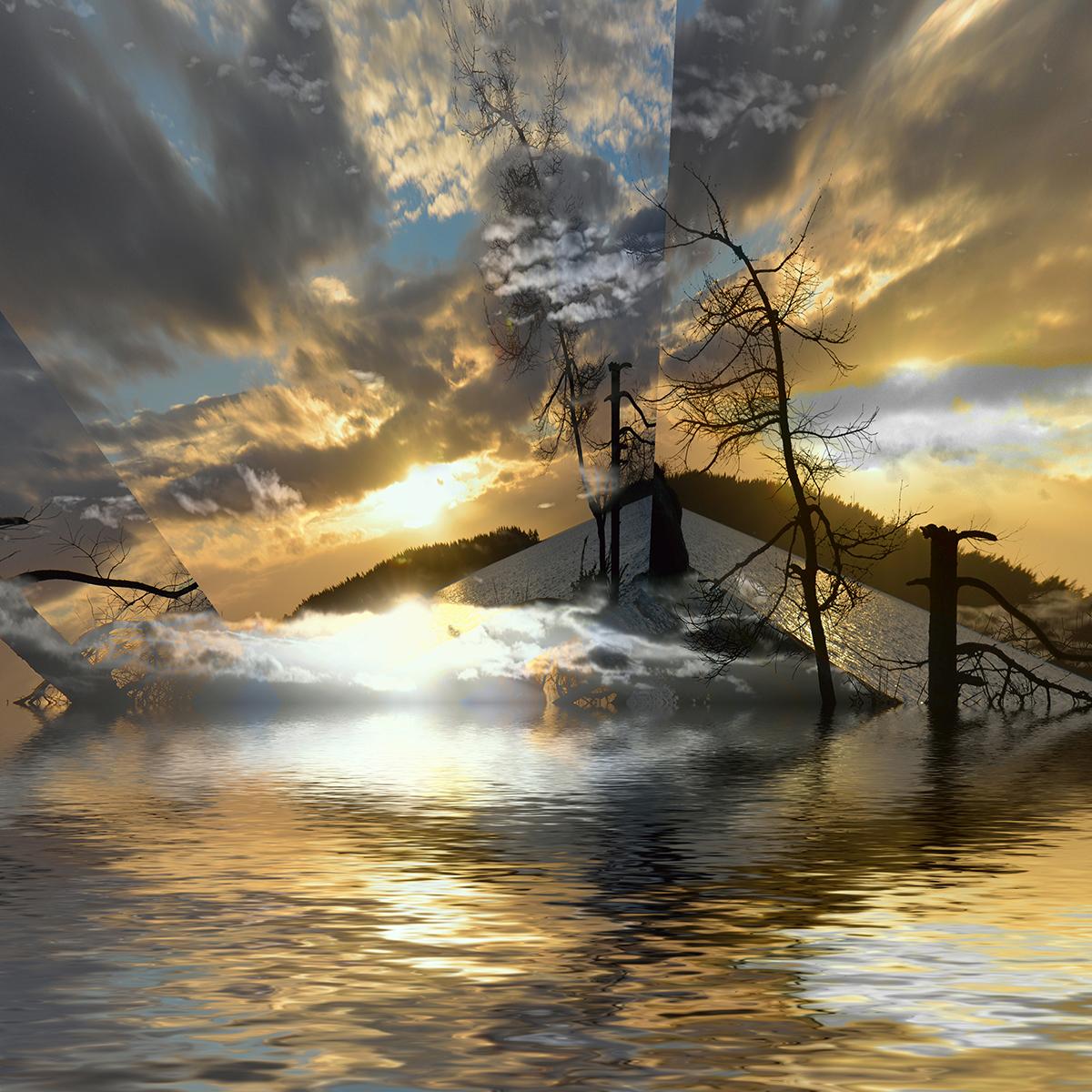Ocean Cloud Reflections