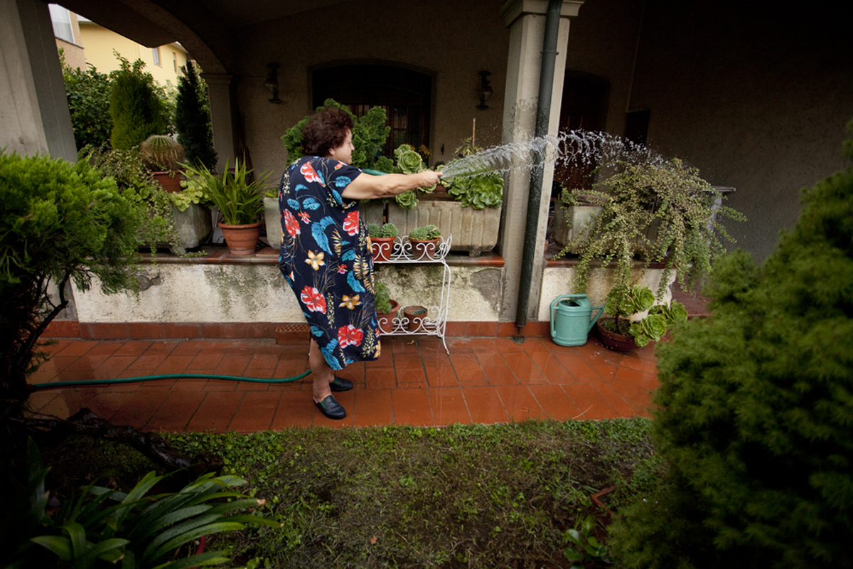 Michela Carmazzi_Aunt Janna An Italian Housewife_Aunt Janna In The Garden.jpg